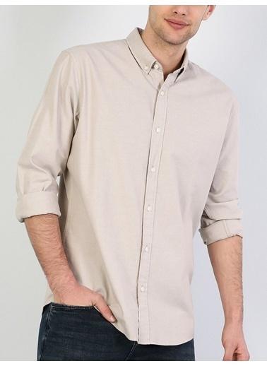 Colin's Uzun Kollu Gömlek Bej